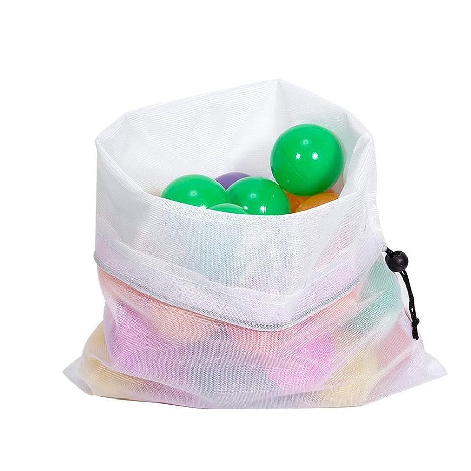 スプレーコウモリ一時停止9ピース固体再利用可能なポリエステルメッシュ生産収納バッグ用キッチンフルーツ野菜のおもちゃ雑貨洗えるエコフレンドリーバッグ (マルチカラー)