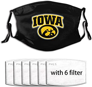 NCAA Adult Dust Face Cover Washable Reusable Replaceable with 6 Filter Activated