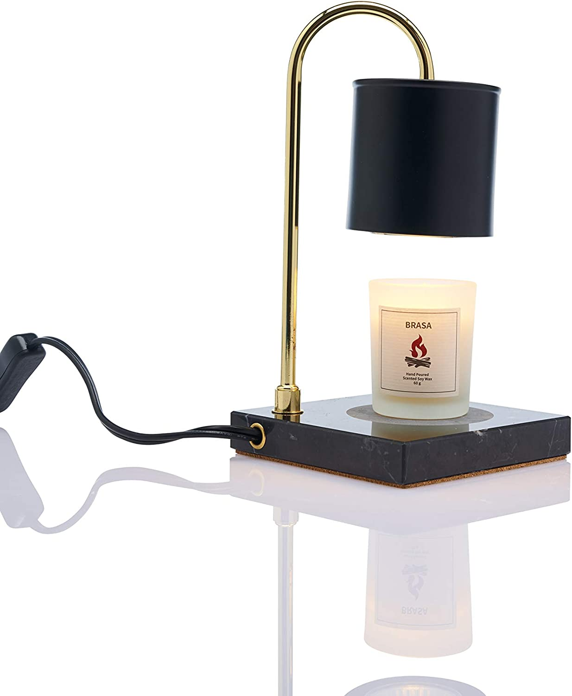 Vana Candles Candle Warmer Ljusv?rmare Svart Marmor Mini Modern Lamp Swedish Design - Black Marble Brushed Metal