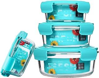 LINGLING Aliments Rangement et organisation Boîtes de rangement en verre plats à la vapeur Idéal évents conteneurs for les...