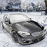 Protezione parabrezza antighiaccio con, AODOOR Auto Copertura Parasole Invernale Anti-Gelo Parabrezza neve, adatto per la maggior parte dei veicoli (160 x 118 cm)