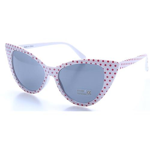 retroUV®®®® - Polka Dot Oeil de Chat Femmes Mod Mode Super Cat e61b18ff672f
