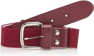 """Champro Leather Baseball Belt, Cardinal, 1-1/4"""""""