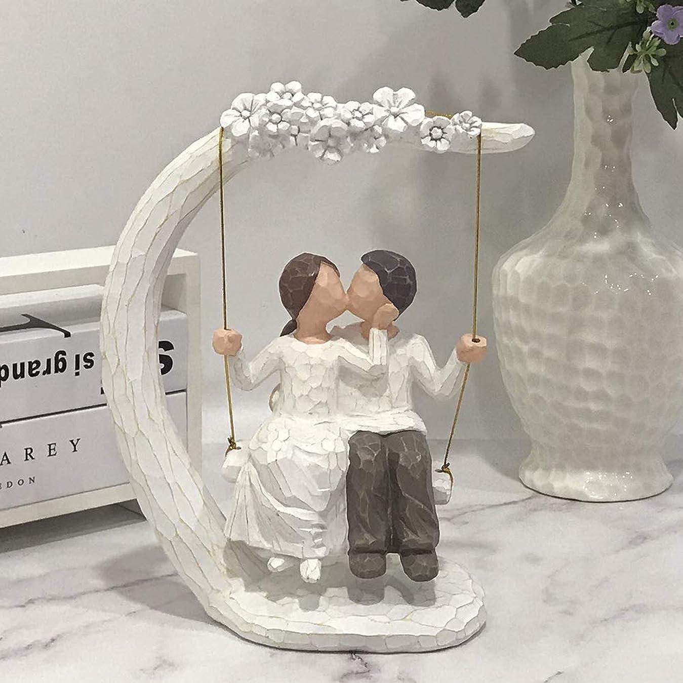 グループ規制するパースブラックボロウJHP 結婚式の置物 カップル ブランコ 樹脂製 結婚祝い 結婚記念日 いい夫婦の日 恋人 夫婦 誕生日プレゼント バレンタインデー ラブラブ
