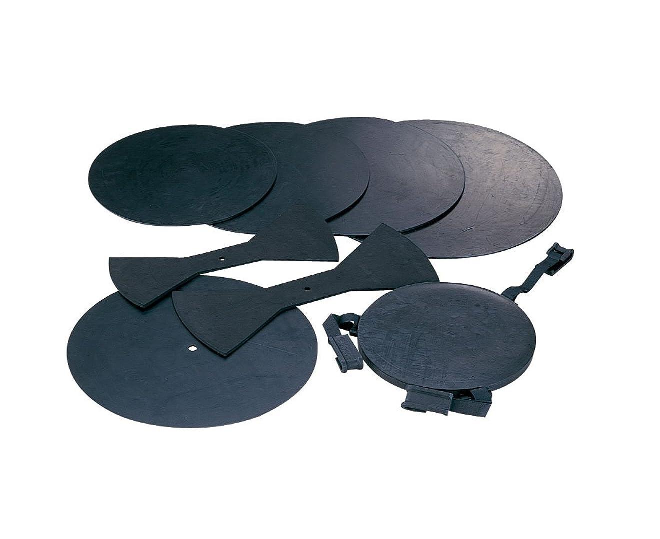 変換契約する便益MAXTONE ドラム用ミュート 消音パット 8点セット DP-8 ブラック