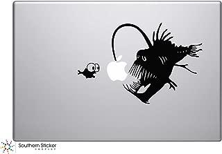 angler fish macbook decal