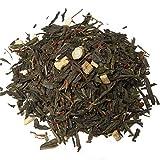 Aromas de Té - Té Verde Ginseng Coreano Pasión - Con Té verde, Raíz de Ginseng, Trozos liofilizados de Fruta de la Pasión y Aromas - Estimulante - Vitaminas A y C - 100 gr.