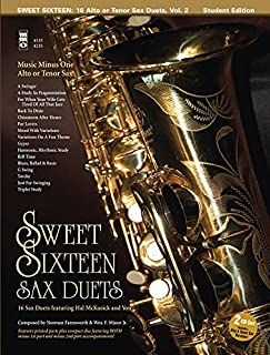 Sweet Sixteen Sax Duets: Music Minus One Alto or Tenor Sax Deluxe 2-CD Set