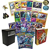 Pokemon GX Guaranteed with 2 Sun and Moon Series Booster Packs, 2 Holo Rares, 7 Reverse Foils, 10 Rare Cards and 20 Pokemon Cards! Bonus Pokemon Pins! Pokemon Album! Realgoodeal Deck Box!