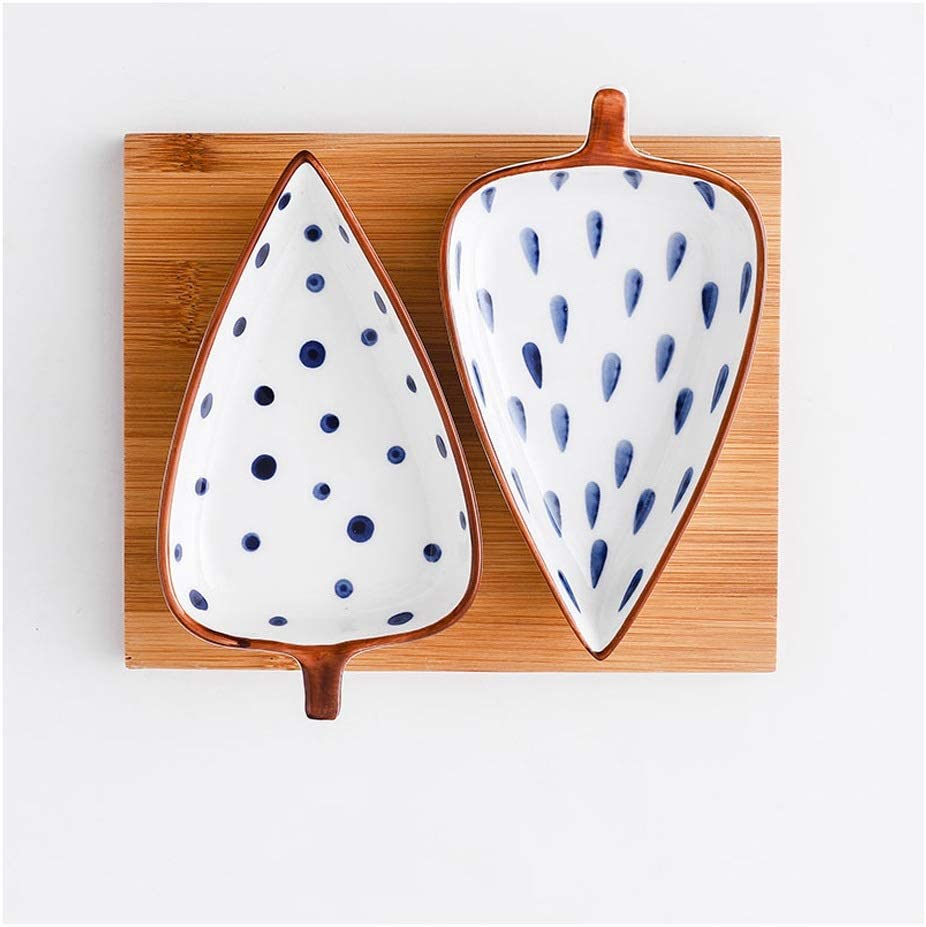 Sauce Dish Ceramic Snack Plate trust New life Dipping Odd-Shaped Set Smal