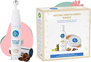 The Moms Co. Natural Vita Rich Under Eye Cream with Cooling Massage Roller and The Moms Co. 7 in 1 Natural Stretch Bio Oil...