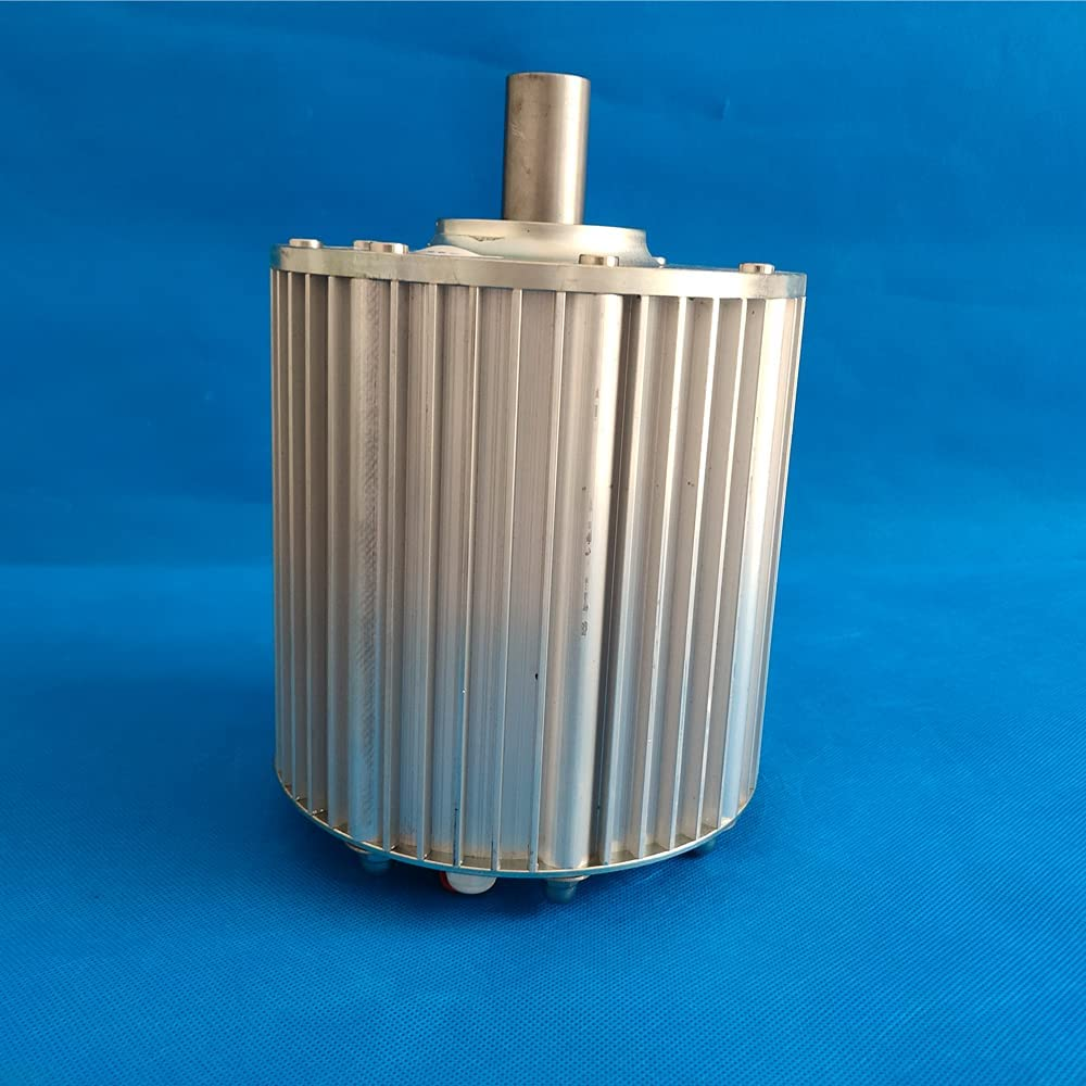 Generador de imán permanente sin engranajes de 3 fases 24V 48V 96V AC alternador de agua generador de turbina de viento (24V, sin base)