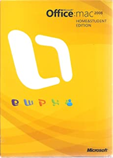 Microsoft Office: Mac Home and Student Edition 2008 - Mac, Mac OS X (Includes Microsoft Office: Mac 2008 DVD ROM/ Microsoft Expression Media CD ROM/ Install Guide and Quick Start Guide for Expression Media Pamphlets)