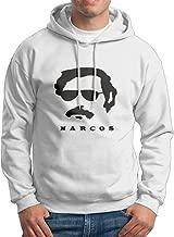 Mens/Boys Who Hunt Pablo Escobar Narcos Season 2 Hooded Sweatshirt White XX-Large
