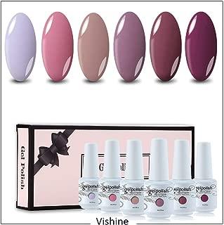 Vishine Gel Polish 6 Colors Soak Off UV LED Nail Art Manicure Salon Starter Kit Nude Colour Series 8ml Gift Set