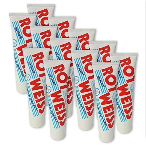 12er Pack Dental Zahncreme Rot Weiss (12 x 100 ml), Zahnpaste, Zahnpasta, Zahnpflege