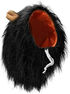 Vivifying León Mane peluca, ajustable mascota disfraz con orejas para perro (Negro)