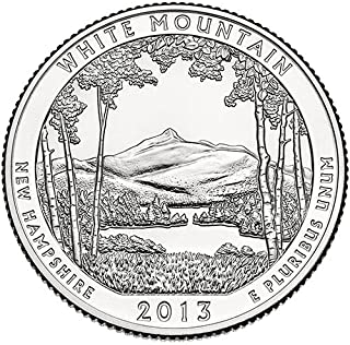 2013 S Silver Proof White Mountain New Hampshire National Forest NP Quarter Choice Uncirculated US Mint