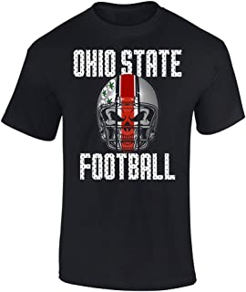 Slicksleek Apparel Ohio State Football Skull Helmet Graphic T-Shirt