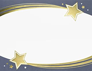 Great Papers! Shooting Stars Gold Foil Certificate, 8.5