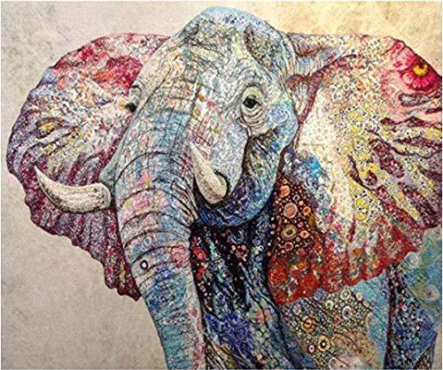 djjinhao - 1000 Piezas Puzzle - Elefante de Color - Rompecabezas para niños Adultos Juego Creativo Rompecabezas Navidad decoración del hogar Regalo