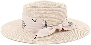 Sun Hat for men and women Fashion Jazz Hat Ladies Summer Travel Wild Pure Color Sun Hat Pink Ribbon Top Woman Straw Hat
