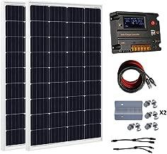 ECO-WORTHY 240 Watt (2pcs 120 Watt) 12V Solar Panel Kit + 20A Battery Charge Controller for 12 Volt Off Grid Battery System