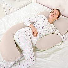 Novo 3kg PP Cotton comfort Pregnancy & Maternity Pillow, Beige - 175x80x25cm