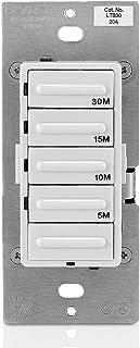 Leviton LTB30-1LZ Decora 1800W Incandescent/20A Resistive-Inductive 1HP Preset 5-10-15-30..