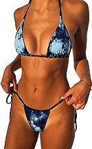 IBIZA VIBE 2 Piece Triangle Bikini Set Sexy Tie Dye Brazilian Cheeky Cut Swimsuits for Women