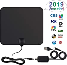 [2019 Upgraded] HDTV Antenna Digital Antenna 100 Miles Range 4K HD VHF UHF Free View Local Channels Television Antenna with Detachable Amplifier Signal Booster and 16.5ft Longer Coax Cable