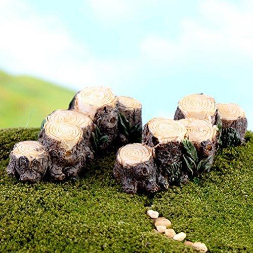 Tione-ve Minioneture Foneiry Gonerden souche d'arbre pont Ornonement Dollhouse Plonent Pot figurine faite à la main en extérieur Décor Home Decoronetion