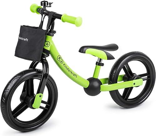 Kinderkraft 2Way Next Draisienne Vélo avec Accessoires Vert
