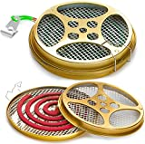 Mosquito Coil Holder - Portable Mosquito Incense Burner - Mosquito Repellent Box for Outdoor Use, Deck, Patio, Pool Side, Camping, Hiking, Fishing - Set of 2 Holders
