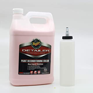 Meguiars D151 Paint Reconditioning Cream 1 Gallon with Self Cleaning Dispenser Bottle