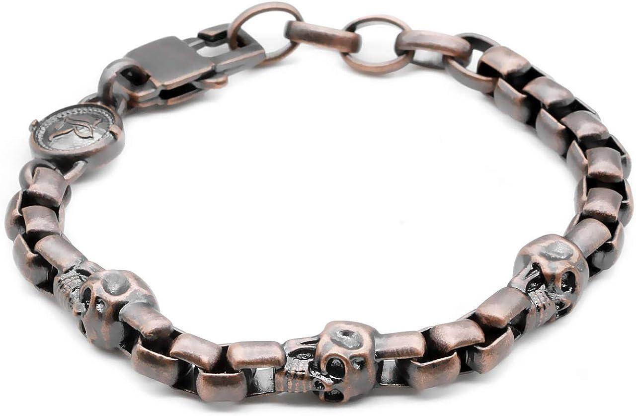 Product True N' Raven Skull Bracelet Chain Copper Bracele Box Manufacturer direct delivery