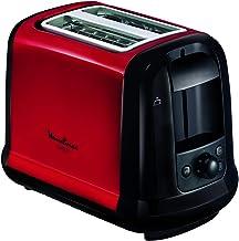 MOULINEX Subito Grille pain 2 fentes rouge toaster Thermostat 7 position Décongetaion Rechauffage Remontrée extra haute LT...