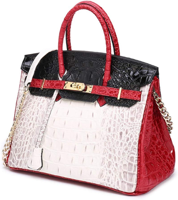 Women's Handbags Genuine Leather Patent Leather Crocodile Embossed Strap Organizer Crossbody Handbags with gold Hardware