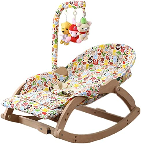 marca en liquidación de venta Guo Infant Bouncers Balance Plegable Todoter Rocker Solid Wood Baby Baby Baby Comfort Cradle Cama Lounge Chair (Color    2)  bajo precio