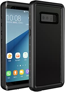 Mangix Galaxy Note 8 Waterproof Case,Underwater Cover Full Body Protective Shockproof Snowproof Dirtproof IP68 Certified Waterproof Case for Samsung Galaxy Note 8 (Black)