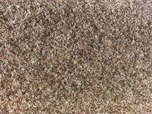 havatex Rasenteppich Kunstrasen mit Noppen 1.550 g/m² - Rot Blau Grau Braun Beige oder Anthrazit | Meterware | wasserdurchlässig | Balkon Terrasse Camping, Farbe:Beige, Größe:400 x 300 cm