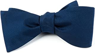 The Tie Bar Grosgrain Solid 100% Woven Silk Bow Tie
