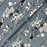 Swafing GmbH Disney Jersey Mickey Mouse Schriftzug - Stoff