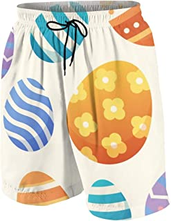 Creative Hand Drawn Tiger Men's Swim Trunks Summer Teen Beach Pants Quick Dry Board Shorts Bathing Suit