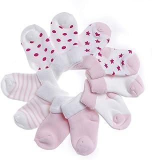IKRR, 5 piezas Baby's Socks Calcetines para Bebes Niños Niñas Algodón Bebe Recién Nacido