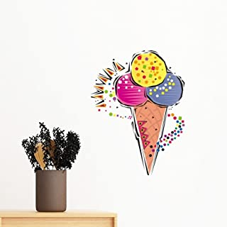 DIYthinker Red Yellow Blue Ice Cream Ball Mexicon Culture Ele T Illustration Removable Wall Sticker Art Decals Mural DIY W...