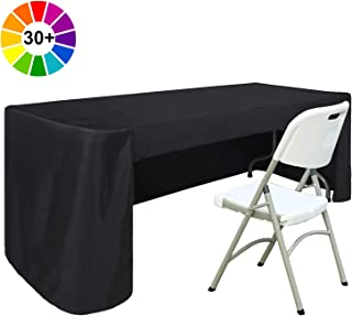 ABCCANOPY 6 FT Rectangle Tablecloth Table Cover for Rectangular Tables in Washable Polyester-Great for Buffet Table Parties Holiday Dinner, Wedding & More Black