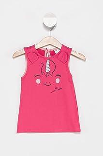 DeFacto Kız Bebek Unicorn Baskılı Kolsuz Elbise