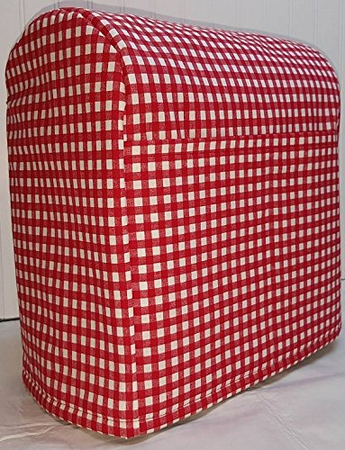 Penny's Needful Things Red Checked Cover Compatible for Kitchenaid Stand Mixer (All Red Checked, 7qt Proline/8qt Commercial)