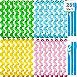 28 Pieces Hair Curlers Spiral Curls No Heat...